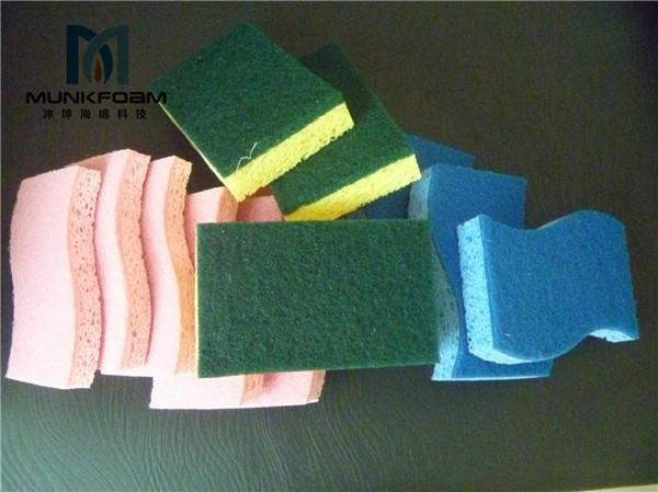 cellulose sponge with scourer pad