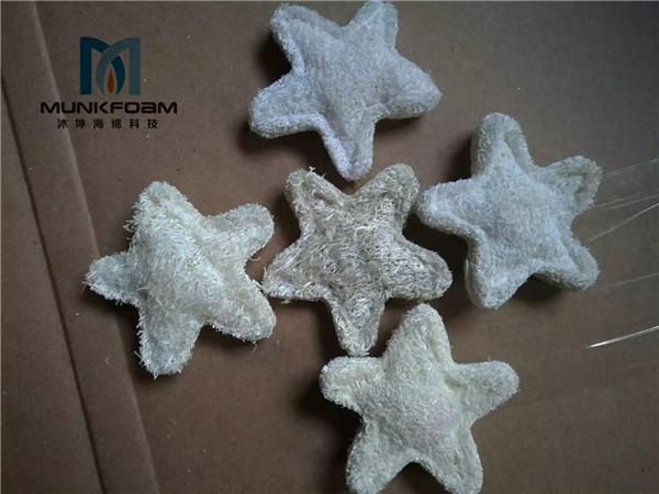 loofah sponge ornaments