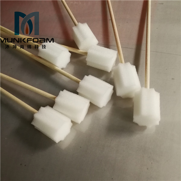 wooden stick sponge swab