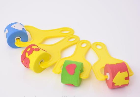 Educational Toys EVA Kids Roller Foam Painting Brush